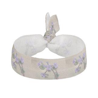 Phacelia Purple Wildflowers Elastic Hair Tie