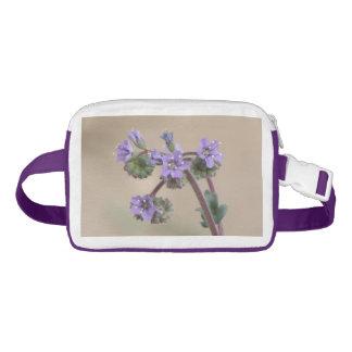 Phacelia Purple Wildflowers Nylon Fanny Pack