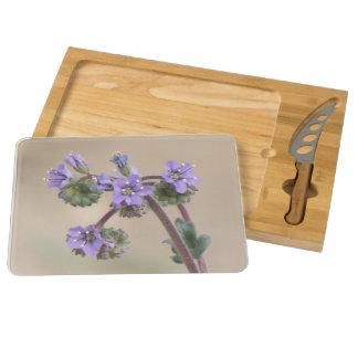 Phacelia Purple Wildflowers Rectangular Cheeseboard