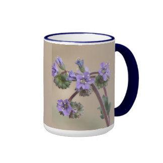Phacelia Purple Wildflowers Ringer Coffee Mug