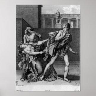 Phaedra, Oenone and Hippolytus Print