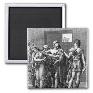 Phaedra, Theseus and Hippolytus Magnets