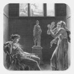 Phaedra y Oenone, ejemplo del acto I Calcomania Cuadradas Personalizada