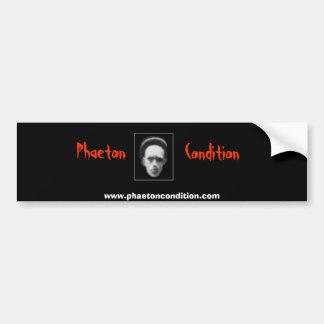 Phaeton Condition Bumber Sticker Car Bumper Sticker