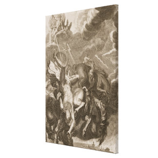 Phaeton Struck Down by Jupiter's Thunderbolt, 1731 Canvas Print