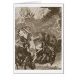 Phaeton Struck Down by Jupiter's Thunderbolt, 1731 Card