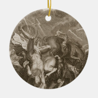 Phaeton Struck Down by Jupiter's Thunderbolt, 1731 Ceramic Ornament