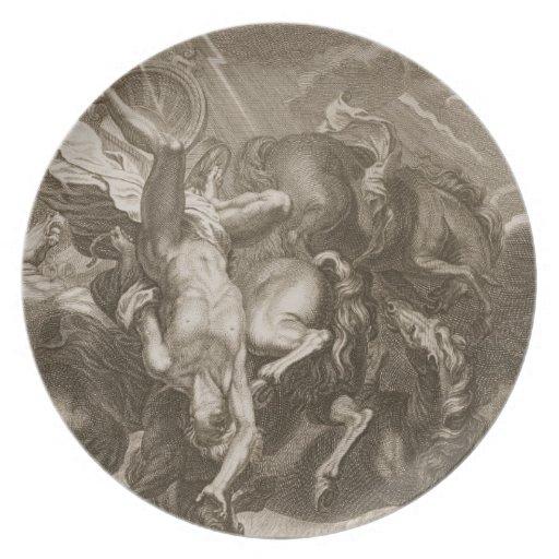 Phaeton Struck Down by Jupiter's Thunderbolt, 1731 Plate
