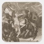 Phaeton Struck Down by Jupiter's Thunderbolt, 1731 Square Sticker