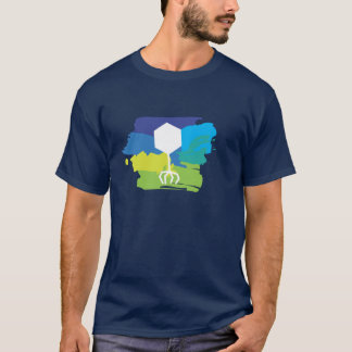 Phage Logo T-Shirt (Multi-Color; Blue/Green)
