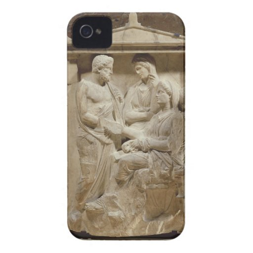 Phainippos and Mnesarete gravestone showing family iPhone 4 Covers