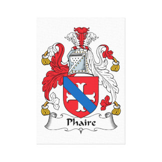 Phaire Family Crest Gallery Wrap Canvas