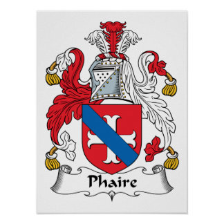 Phaire Family Crest Posters