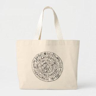 Phaistos disk canvas bags