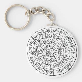 Phaistos disk basic round button keychain