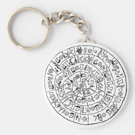 Phaistos disk keychain