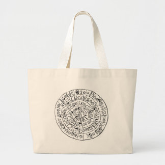 Phaistos disk large tote bag
