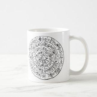 Phaistos disk classic white coffee mug