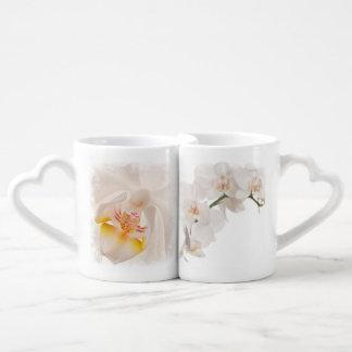 Phalaenopsis Moth Orchid Couples' Coffee Mug Set