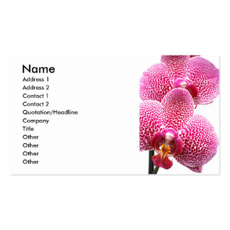 Phalaenopsis orchid business cards