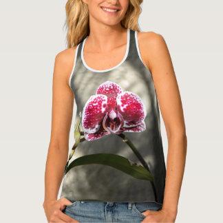 Phalaenopsis Orchid Purple Mottled Flower Tank Top