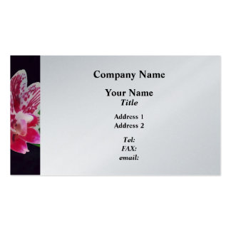 Phalaenopsis Orchid Taida Little Zebra Business Card Template