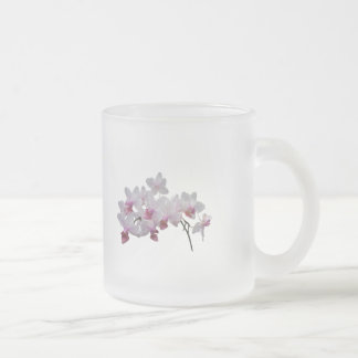 Phalaenopsis Orchids Twilight Rainbow Frosted Glass Coffee Mug
