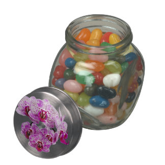 Phalaenopsis OX Happy Girl Orchid Glass Candy Jar