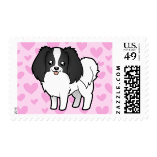Phalene / Japanese Chin Love Postage Stamps