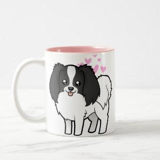 Phalene / Japanese Chin Love Two-Tone Coffee Mug