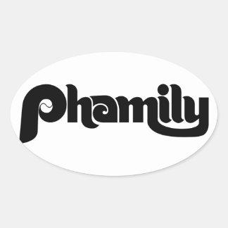 Phamily Oval Sticker