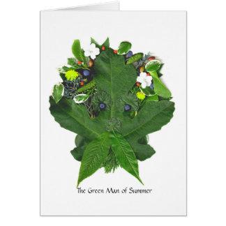 Phantasies de Phaedra - el hombre verde de verano Tarjeta De Felicitación