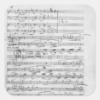 Phantasiestucke, Opus, for piano Square Sticker