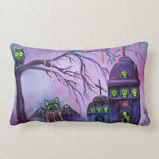 Phantasm Cat, Owl, Skeleton Pillows