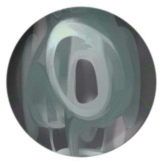 Phantasm Pastel Abstract Party Plate