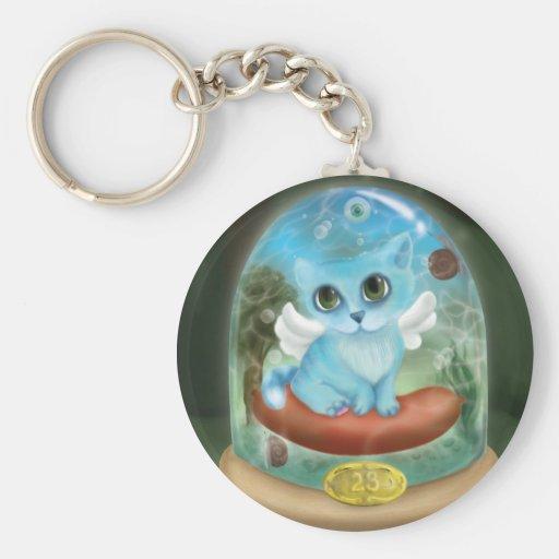 Phantasmagoric cat - Key-ring Basic Round Button Keychain