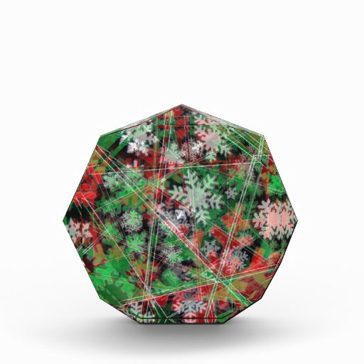 Phantom Christmas snow flakes Acrylic Award