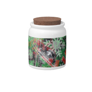 Phantom Christmas snow flakes Candy Jars