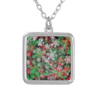 Phantom Christmas snow flakes Necklaces