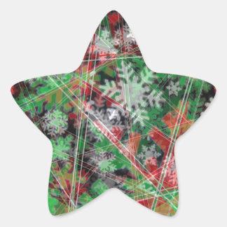 Phantom Christmas snow flakes Star Sticker