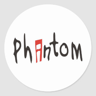 PHANTOM CLASSIC ROUND STICKER