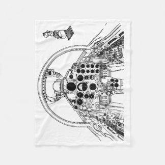 Phantom Cockpit Fleece Blanket