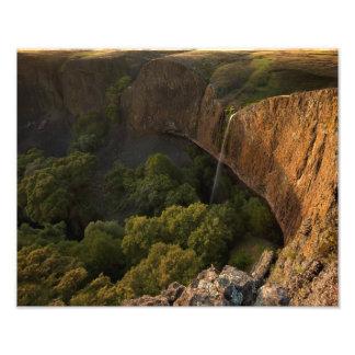 Phantom Falls in Chico California at Sunset Photographic Print