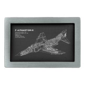 Phantom Fighter Jet (Supersonic Aircraft) Pilot Rectangular Belt Buckle