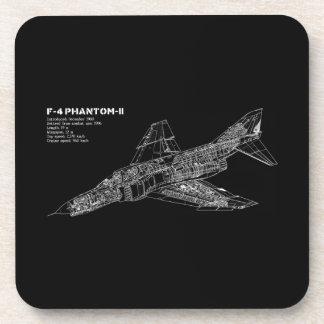 Phantom Fighter Jet (Supersonic Aircraft) Pilot Drink Coaster