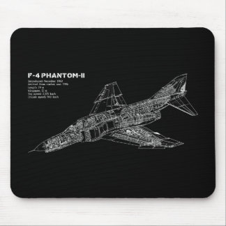 Phantom Fighter Jet (Supersonic Aircraft) Pilot Mouse Pad
