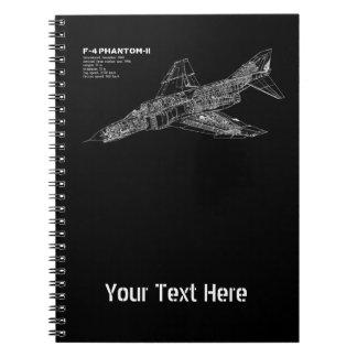 Phantom Fighter Jet (Supersonic Aircraft) Pilot Spiral Notebook