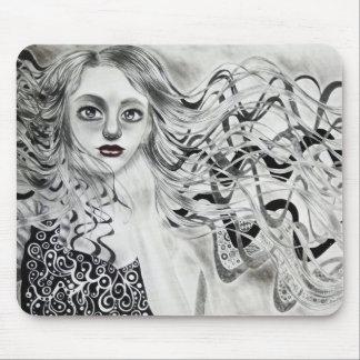 Phantom Girl Drawing Mouse Pad
