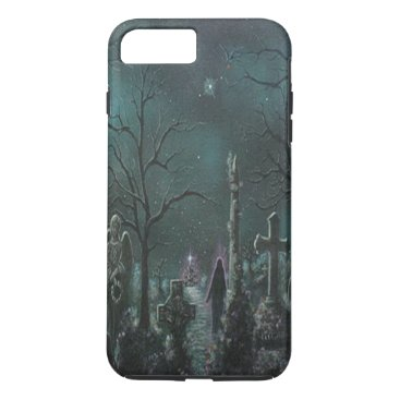 Halloween Themed Phantom Graveyard iPhone 7 Case