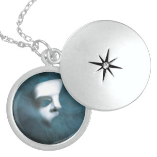 Phantom Mask Sterling Silver Round Locket
